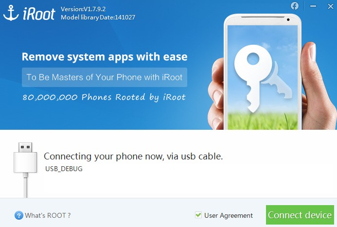 Step 5 Open And Run Iroot On Your Pc Will Detect Phone Automatically